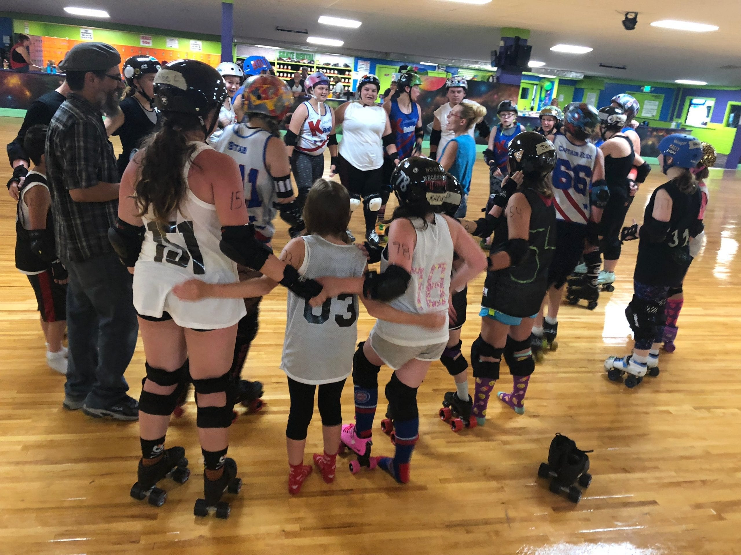 Lake Effects Jr Roller Derby girls photo