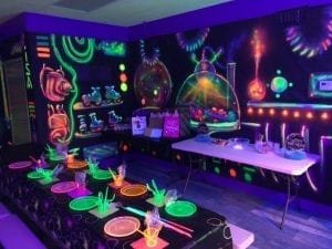 Glo Party Room at Sk8world