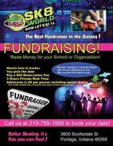 Sk8 World Fundraising Flyer
