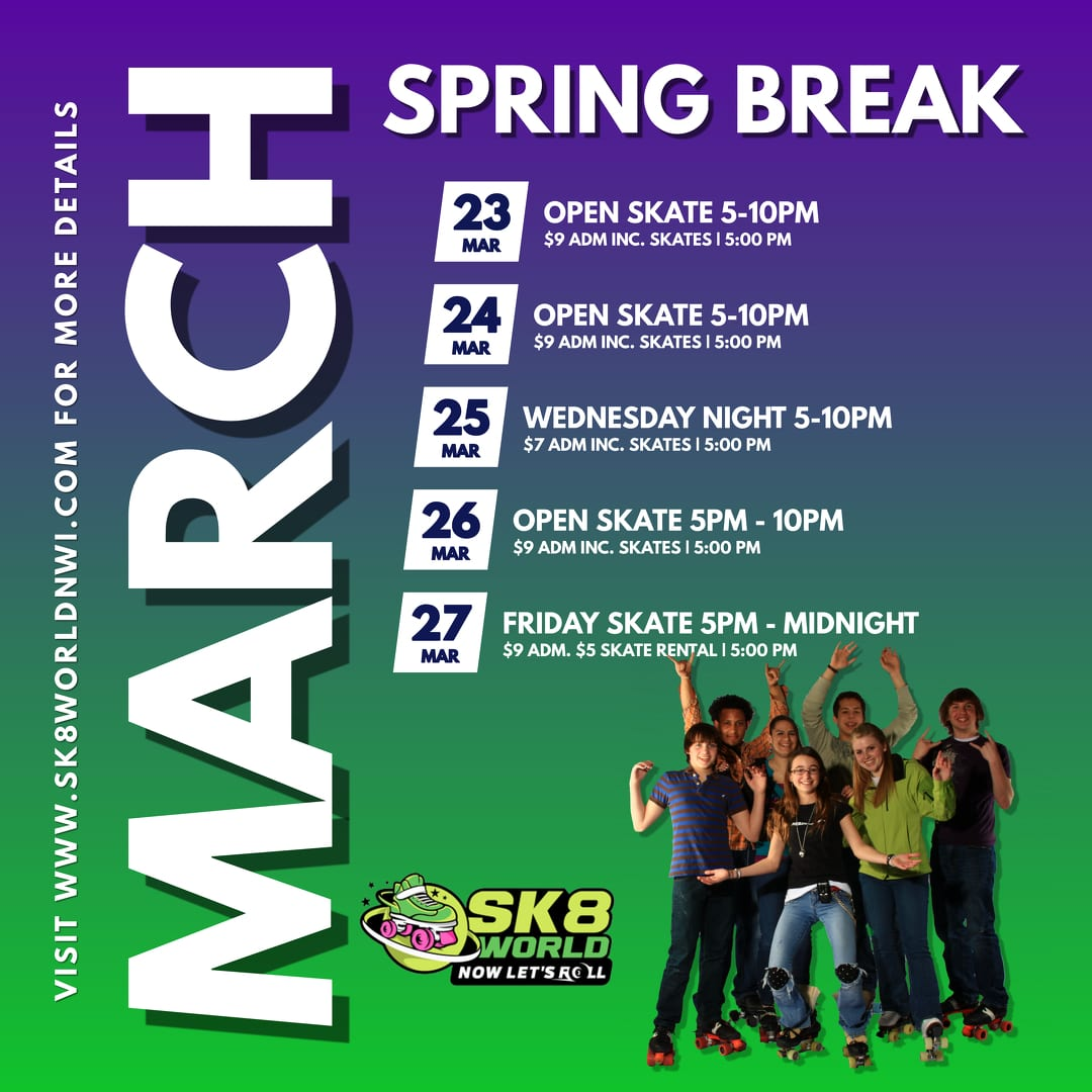 Spring Break Hours flyer